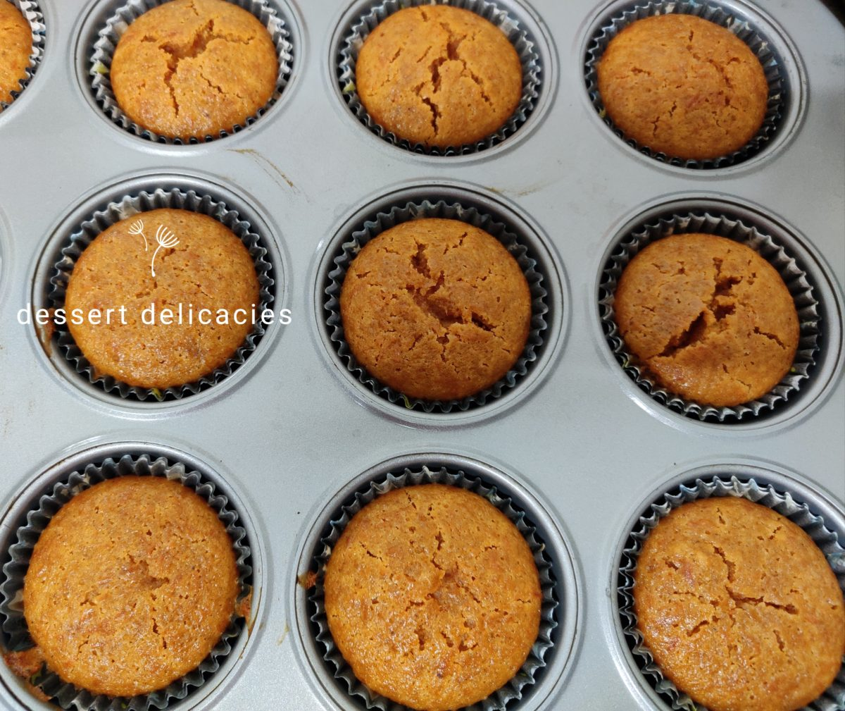 Wholewheat Carrot Honey cupcakes